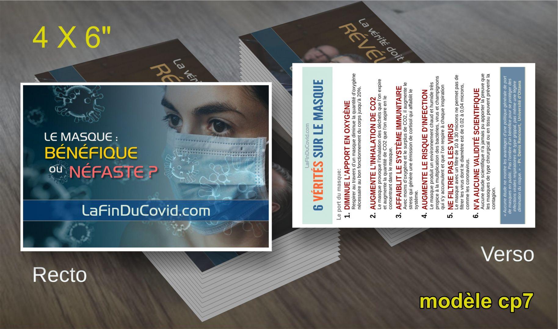 Cartes Postales (4x6) - (Le masque 6 vérités détaillées)