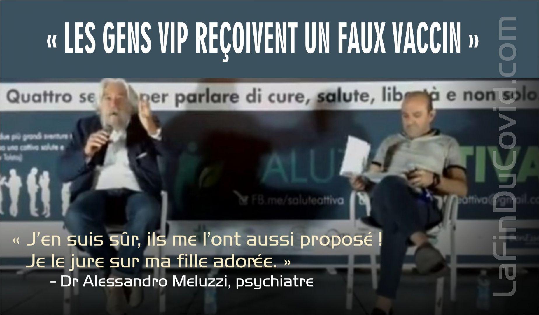 Dr. A. Meluzzi: Les VIP reçoivent de « faux vaccins », je le jure sur la tête de ma fille !