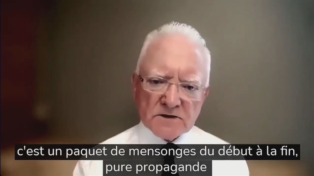Le dr Roger Hodkinson a un important message pour vous: tout est mensonge à propos du covid et des mesures ridicules