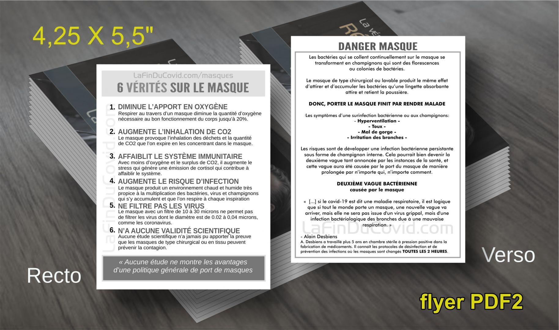 Flyer  (à imprimer) 6 vérités sur le masque - PDF