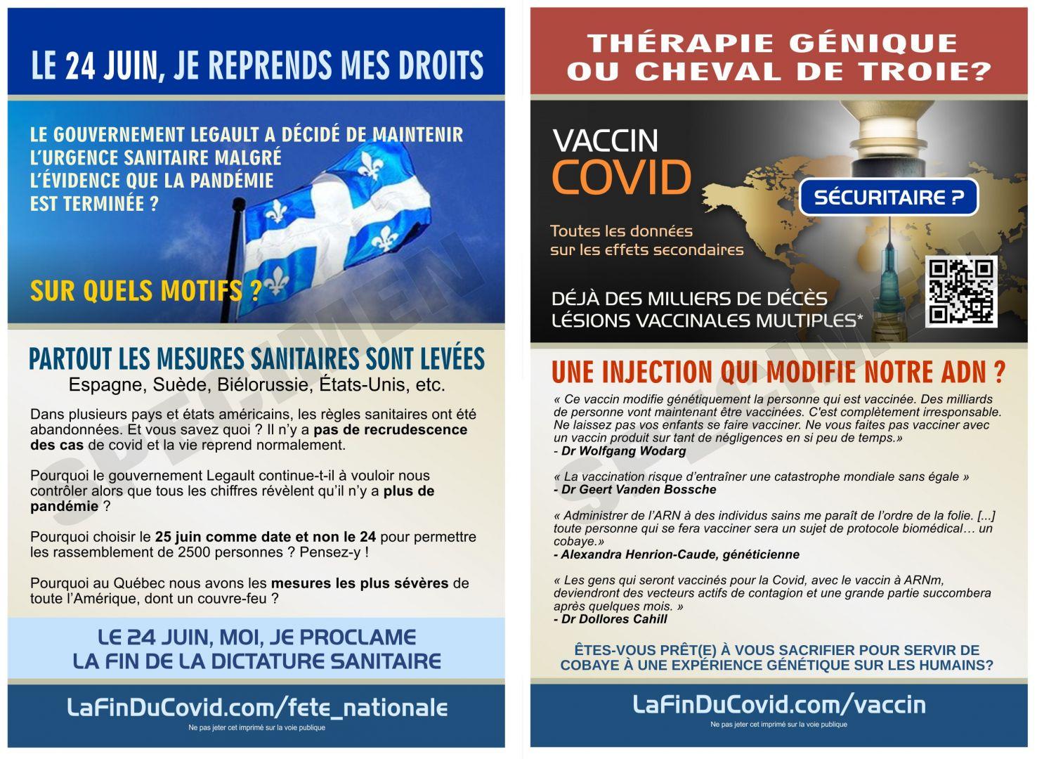 Cartes Postales (4x6) - (24 juin - Vaccin dangereux)