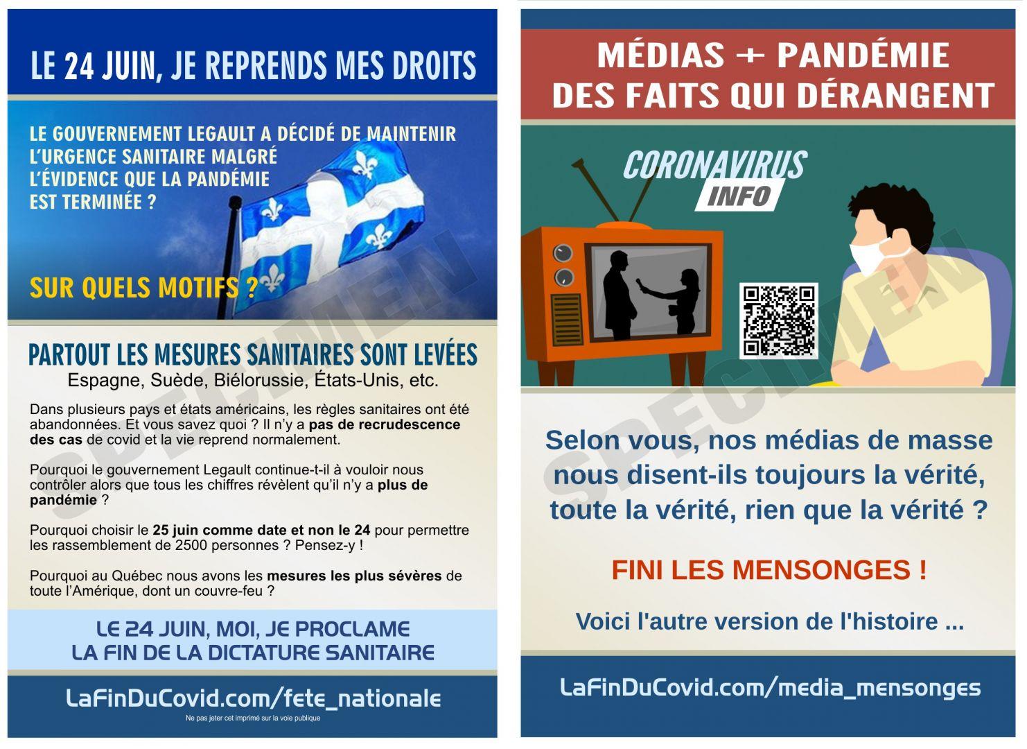 Cartes Postales (4x6) - (24 juin - Medias manipulateurs)